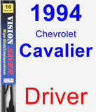 Driver Wiper Blade for 1994 Chevrolet Cavalier - Vision Saver