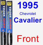 Front Wiper Blade Pack for 1995 Chevrolet Cavalier - Vision Saver