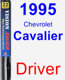 Driver Wiper Blade for 1995 Chevrolet Cavalier - Vision Saver