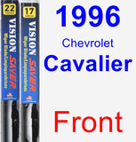 Front Wiper Blade Pack for 1996 Chevrolet Cavalier - Vision Saver