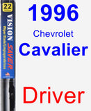 Driver Wiper Blade for 1996 Chevrolet Cavalier - Vision Saver