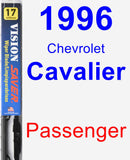 Passenger Wiper Blade for 1996 Chevrolet Cavalier - Vision Saver