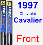 Front Wiper Blade Pack for 1997 Chevrolet Cavalier - Vision Saver