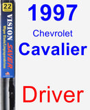 Driver Wiper Blade for 1997 Chevrolet Cavalier - Vision Saver