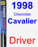 Driver Wiper Blade for 1998 Chevrolet Cavalier - Vision Saver