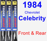 Front & Rear Wiper Blade Pack for 1984 Chevrolet Celebrity - Vision Saver