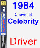 Driver Wiper Blade for 1984 Chevrolet Celebrity - Vision Saver