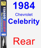 Rear Wiper Blade for 1984 Chevrolet Celebrity - Vision Saver