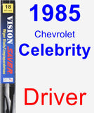 Driver Wiper Blade for 1985 Chevrolet Celebrity - Vision Saver