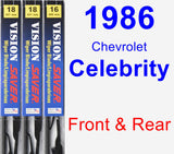 Front & Rear Wiper Blade Pack for 1986 Chevrolet Celebrity - Vision Saver
