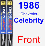 Front Wiper Blade Pack for 1986 Chevrolet Celebrity - Vision Saver