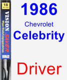 Driver Wiper Blade for 1986 Chevrolet Celebrity - Vision Saver