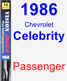 Passenger Wiper Blade for 1986 Chevrolet Celebrity - Vision Saver