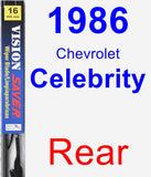 Rear Wiper Blade for 1986 Chevrolet Celebrity - Vision Saver