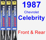 Front & Rear Wiper Blade Pack for 1987 Chevrolet Celebrity - Vision Saver