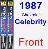 Front Wiper Blade Pack for 1987 Chevrolet Celebrity - Vision Saver