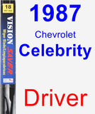Driver Wiper Blade for 1987 Chevrolet Celebrity - Vision Saver
