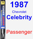 Passenger Wiper Blade for 1987 Chevrolet Celebrity - Vision Saver
