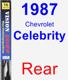 Rear Wiper Blade for 1987 Chevrolet Celebrity - Vision Saver