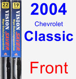 Front Wiper Blade Pack for 2004 Chevrolet Classic - Vision Saver