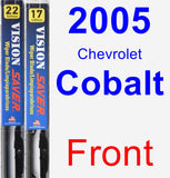 Front Wiper Blade Pack for 2005 Chevrolet Cobalt - Vision Saver