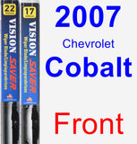 Front Wiper Blade Pack for 2007 Chevrolet Cobalt - Vision Saver