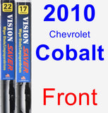 Front Wiper Blade Pack for 2010 Chevrolet Cobalt - Vision Saver