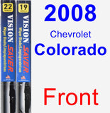 Front Wiper Blade Pack for 2008 Chevrolet Colorado - Vision Saver