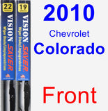 Front Wiper Blade Pack for 2010 Chevrolet Colorado - Vision Saver