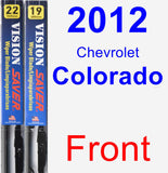 Front Wiper Blade Pack for 2012 Chevrolet Colorado - Vision Saver