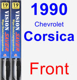 Front Wiper Blade Pack for 1990 Chevrolet Corsica - Vision Saver