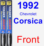 Front Wiper Blade Pack for 1992 Chevrolet Corsica - Vision Saver