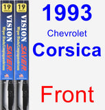 Front Wiper Blade Pack for 1993 Chevrolet Corsica - Vision Saver