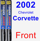 Front Wiper Blade Pack for 2002 Chevrolet Corvette - Vision Saver