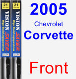 Front Wiper Blade Pack for 2005 Chevrolet Corvette - Vision Saver
