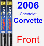 Front Wiper Blade Pack for 2006 Chevrolet Corvette - Vision Saver