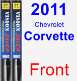 Front Wiper Blade Pack for 2011 Chevrolet Corvette - Vision Saver
