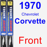 Front Wiper Blade Pack for 1970 Chevrolet Corvette - Vision Saver