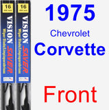 Front Wiper Blade Pack for 1975 Chevrolet Corvette - Vision Saver