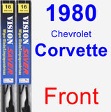 Front Wiper Blade Pack for 1980 Chevrolet Corvette - Vision Saver