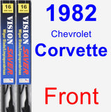 Front Wiper Blade Pack for 1982 Chevrolet Corvette - Vision Saver