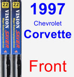 Front Wiper Blade Pack for 1997 Chevrolet Corvette - Vision Saver