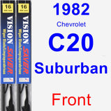Front Wiper Blade Pack for 1982 Chevrolet C20 Suburban - Vision Saver