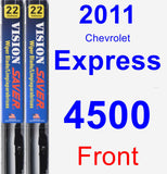 Front Wiper Blade Pack for 2011 Chevrolet Express 4500 - Vision Saver