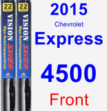 Front Wiper Blade Pack for 2015 Chevrolet Express 4500 - Vision Saver