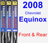 Front & Rear Wiper Blade Pack for 2008 Chevrolet Equinox - Vision Saver