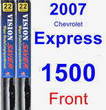 Front Wiper Blade Pack for 2007 Chevrolet Express 1500 - Vision Saver