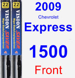 Front Wiper Blade Pack for 2009 Chevrolet Express 1500 - Vision Saver