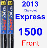 Front Wiper Blade Pack for 2013 Chevrolet Express 1500 - Vision Saver