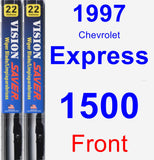 Front Wiper Blade Pack for 1997 Chevrolet Express 1500 - Vision Saver